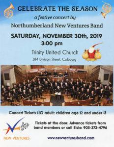New Ventures Band Festive Season Concert Poster